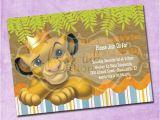 The Lion King Birthday Party Invitations Simba Lion King Birthday Invitation by Freshinkstationery