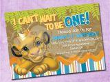 The Lion King Birthday Party Invitations Simba Lion King Birthday Invitation