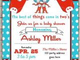 Thing 1 and Thing 2 Baby Shower Invitation Template Thing E Thing Two Baby Shower Invitation Twins Baby