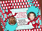 Thing One Thing Two Birthday Invitations Thing 1 and Thing 2 Invitation Mimi 39 S Dollhouse