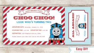 Thomas the Tank Engine Party Invitations Thomas the Tank Engine Birthday Invitation by Linkdesignstudio