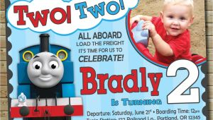 Thomas the Train Photo Birthday Invitations Chandeliers Pendant Lights