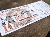 Ticket Stub Wedding Invitations Baseball Ticket Wedding Invitation Sample