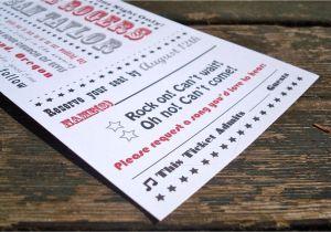 Ticket Stub Wedding Invitations Concert Ticket Wedding Invitation Sample Pack Free