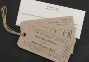Ticket Stub Wedding Invitations Invitation Unique Ticket Stub Wedding Invitations