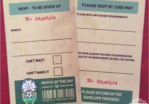 Ticket Stub Wedding Invitations Vintage Football Ticket Wedding Invites Wedfest