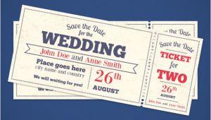 Ticket Wedding Invitation Template Free Wedding Invitation Tickets Vector Free Download