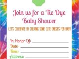 Tie Dye Baby Shower Invitations Summer Baby Shower with Tie Dye Esies