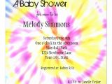 Tie Dye Baby Shower Invitations Tie Dye Baby Shower Invites