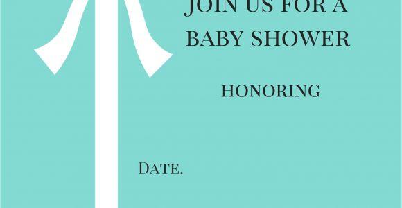 Tiffany and Co Invitations Baby Shower Tiffany Blue Baby Shower Invitations