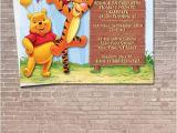 Tigger 1st Birthday Invitations Winnie the Pooh and Tigger Party Invitation Download Editable