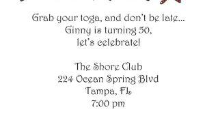 Toga Party Invitations Wording toga Party Invitation L Pj Greetings