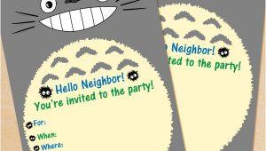 Totoro Party Invitations Free Printable My Neighbor totoro Birthday Invitation