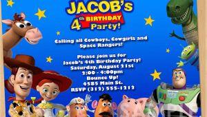 Toy Story Customized Birthday Invitations toy Story Invitation toy Story Invite Custom Personalized
