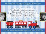 Train Birthday Invitation Template Train Birthday Invitation Templates