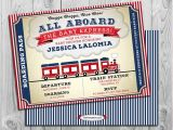 Train themed Baby Shower Invitations Train Baby Shower Invitation Printable