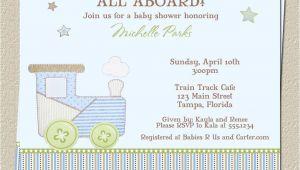 Train themed Baby Shower Invitations Train Baby Shower Invitations for Choo Choo or Carter