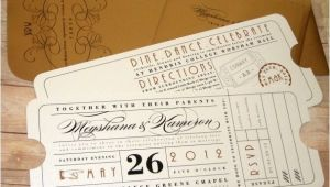 Train Ticket Wedding Invitations Best 25 theatre Wedding Ideas On Pinterest Broadway