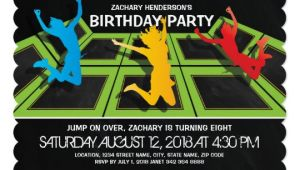 Trampoline Birthday Party Invitation Template Free Trampoline Park Kids Birthday Party Invitation Zazzle Com
