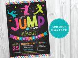 Trampoline Birthday Party Invitation Template Jump Birthday Invitation Trampoline Party by