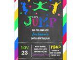 Trampoline Birthday Party Invitation Template Jump Bounce House Trampoline Birthday Invitation Zazzle Com