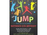 Trampoline Birthday Party Invitation Template Jump Invitation Trampoline Birthday Invitation Zazzle