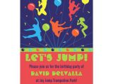 Trampoline Birthday Party Invitation Template Trampoline Birthday Party Invitations Boys Girls