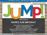 Trampoline Birthday Party Invitation Template Trampoline Party Invitations Birthday Party Template