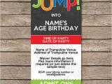 Trampoline Birthday Party Invitation Template Trampoline Party Ticket Invitations Birthday Party Template