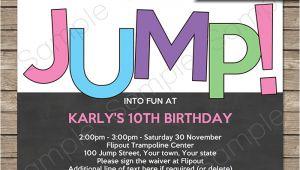 Trampoline Birthday Party Invitations Free Trampoline Birthday Party Invitations Invitation Template