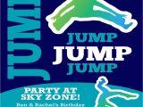 Trampoline Party Invitations Free Small Moments Trampoline themed Invitation