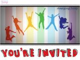 Trampoline Party Invitations Free We Have Free Amazing Jump Invitation Printables On Our