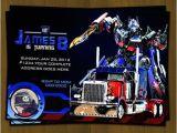 Transformer Birthday Invitations Optimus Prime Transformers Birthday Invitation From