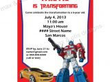 Transformer Birthday Invitations Printable Free Items Similar to Transformers theme Printable Invitation