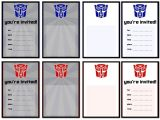 Transformer Birthday Invitations Printable Free Printable Transformers Birthday Party Invitations
