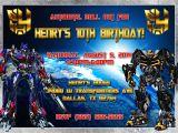 Transformer Birthday Invitations Transformers Birthday Invitation