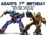 Transformer Party Invitations Transformer Birthday Invitations Bagvania Free Printable