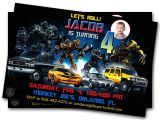 Transformer Party Invitations Transformers Birthday Party Invitations Cimvitation