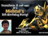 Transformer Party Invitations Transformers Bumblebee Birthday Invitations Download Jpg