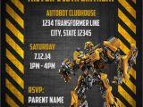 Transformer Party Invitations Transformers Bumblebee Digital Birthday Invitation