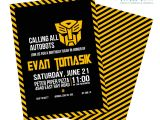 Transformer Party Invites Transformers Birthday Invitation Digital File or by