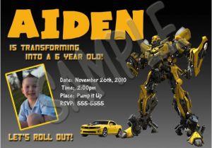 Transformers Birthday Invitation Template Bumblebee Transformers Birthday Photo Invitations 5×7 Ebay
