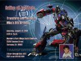 Transformers Birthday Invitation Template Rallyartdesign