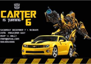 Transformers Birthday Invitation Template Transformers Birthday Invitation Personalized Birthday Party