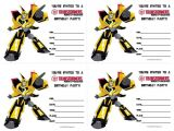 Transformers Birthday Invitation Template Transformers Birthday Invitations All Free Printable