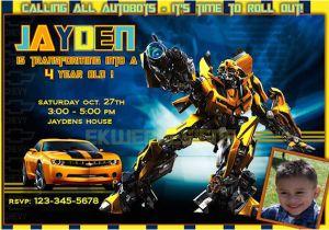 Transformers Birthday Invitation Template Transformers Birthday Invitations Ideas Free Printable