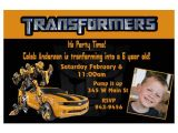 Transformers Birthday Party Invitation Wording Ideas Free Printable Transformers Bumble Bee Birthday Party