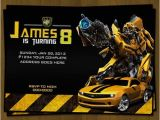 Transformers Birthday Party Invitation Wording Ideas Transformers Birthday Invitation Bumblebee by