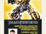 Transformers Birthday Party Invitation Wording Ideas Transformers Bumblebee Birthday Invitation Design