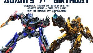 Transformers Birthday Party Invitations Template Transformer Birthday Invitations – Bagvania Free Printable